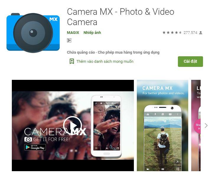 ứng dụng Camera MX