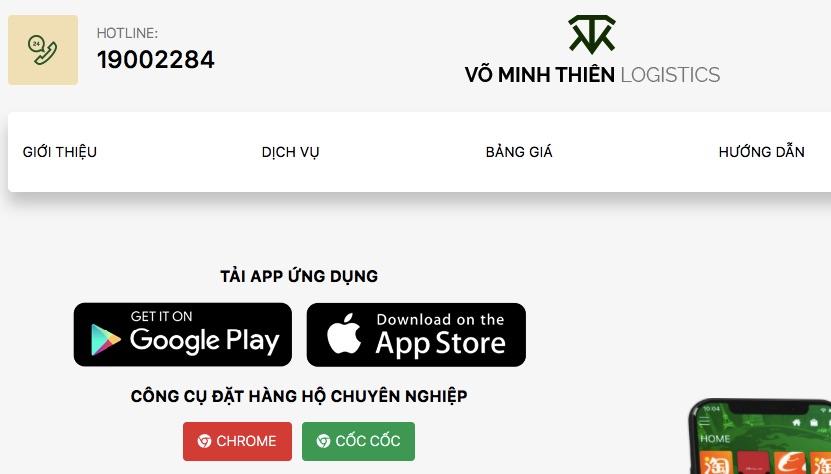 Đặt hàng trung quốc Võ Minh Thiên